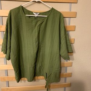 Time and Tru Relaxed Side Tie Blouse